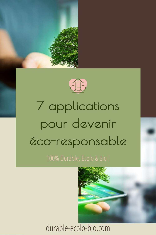 L'écologie est au coeur des débats aujourd'hui, voici une sélection de 7 applis pour s'investir pour notre planète et devenir éco-responsable.
