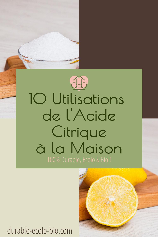 Produit de nettoyage écologique et polyvalent, l'acide citrique a d'autres atouts, notamment en conservation, en cosmétique ou en cuisine, le tout sans danger.