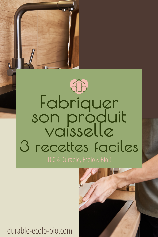 Envie de dire stop aux produits vaisselle du commerce? On te propose d'opter pour l'une de ces 3 recettes de produits vaisselle fait maison.