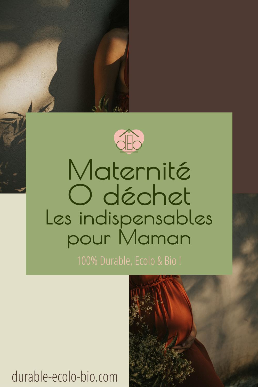 Les indispensables zéro déchet pour femmes enceintes pour une maternité respectueuse de l'environnement, de maman et de bébé.