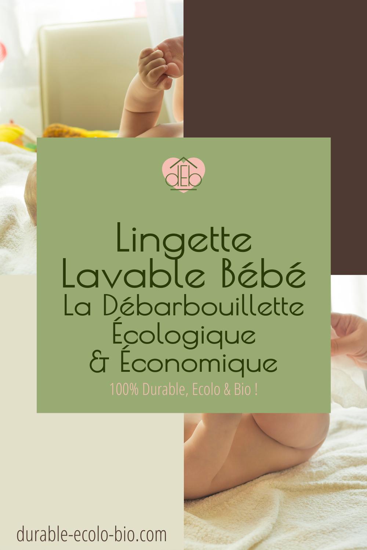 Adieu, lavettes à usage unique, pas saines et polluantes. Vive la lavette réutilisable, tellement plus agréable pour les joues et les fesses de bébé !